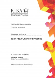 Freeform Architects RIBA CP Certificate_Dec 2015